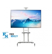 "AVA1800WHT - Ekskluzywny stojak TV, wózek do TV LCD, LED, Plazma 55""-80"""