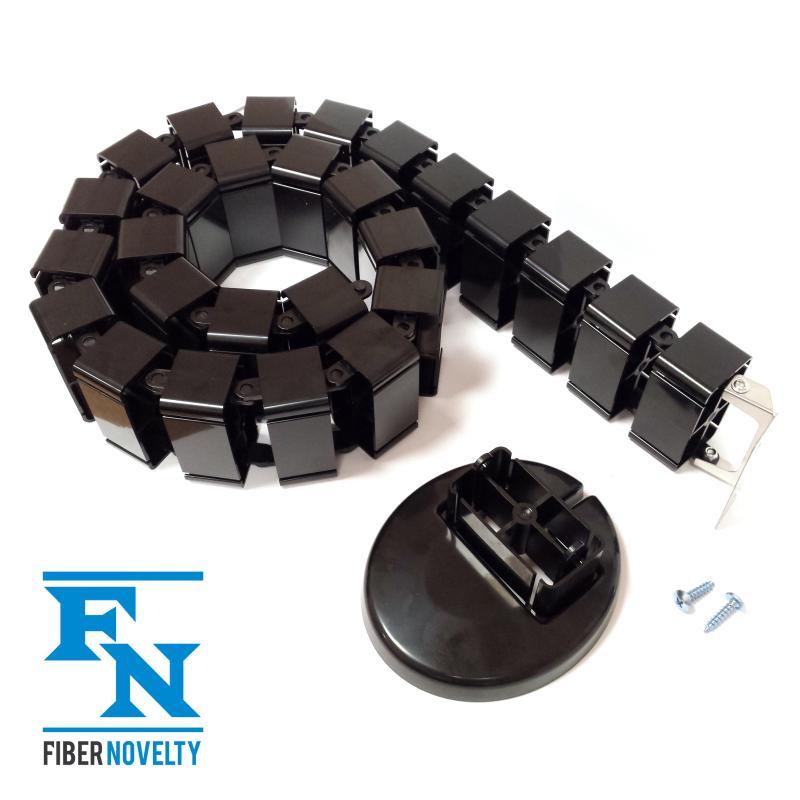 Maskownica / organizer kabli  - elastyczny kanał kablowy