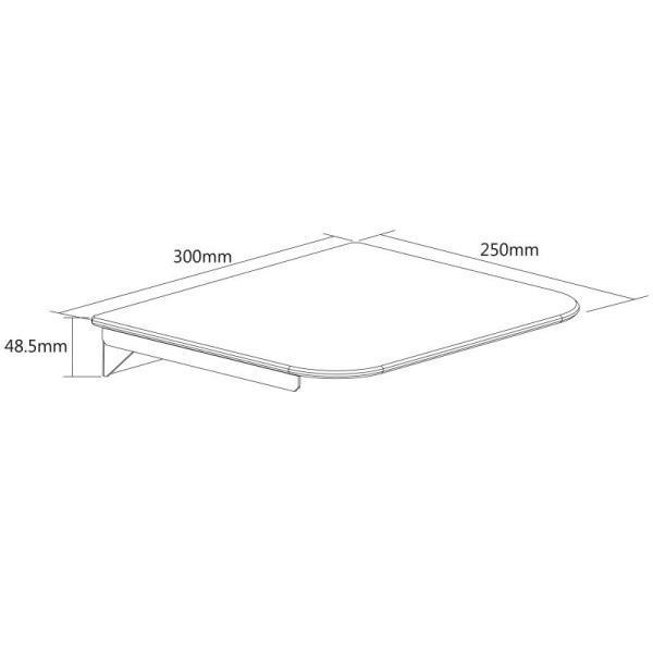 Rysunek techniczny półki szklanej DVD FND300