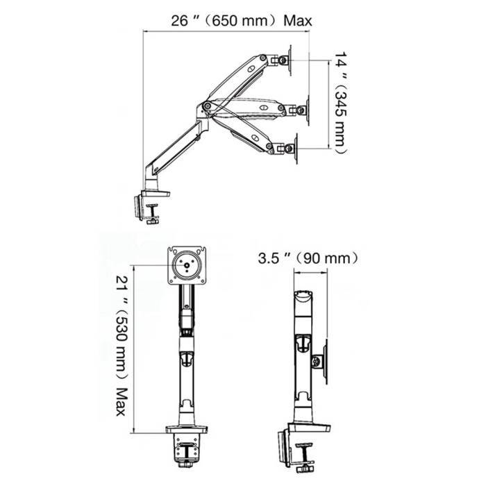 Rysunek techniczny uchwytu F100A