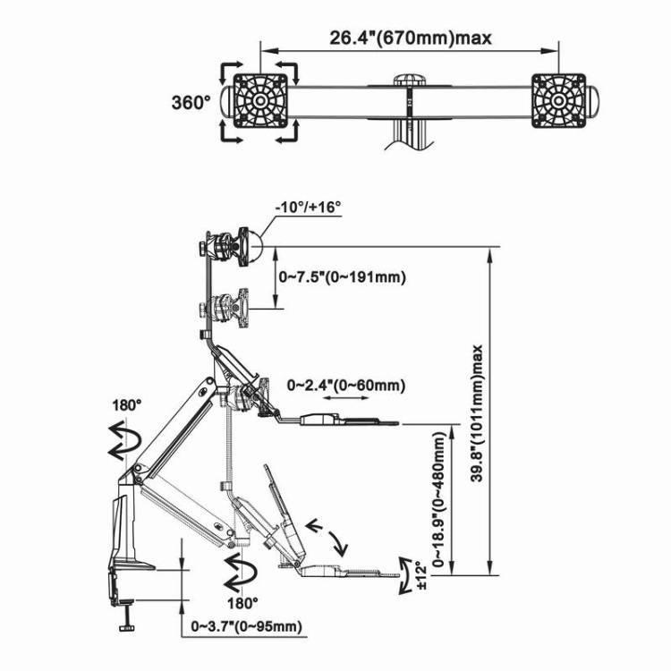 Rysunek techniczny uchwytu FC24-2A