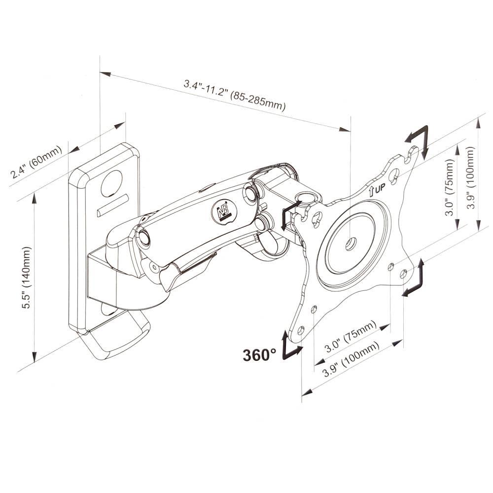 Rysunek techniczny uchwytu F120