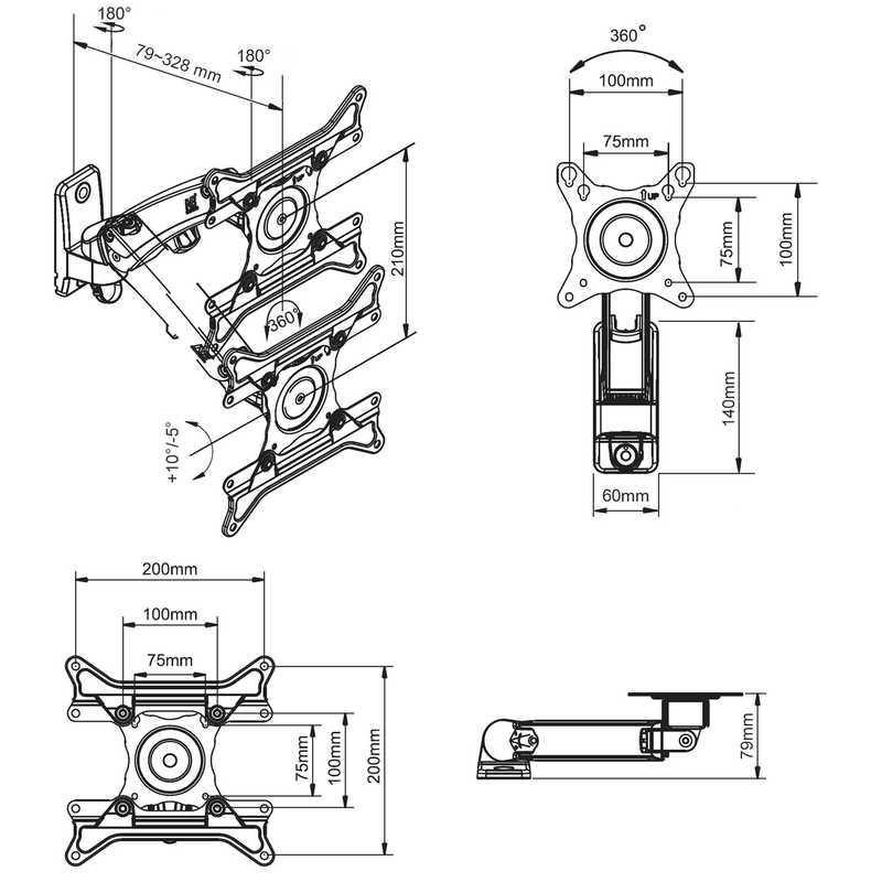 Rysunek techniczny uchwytu F200