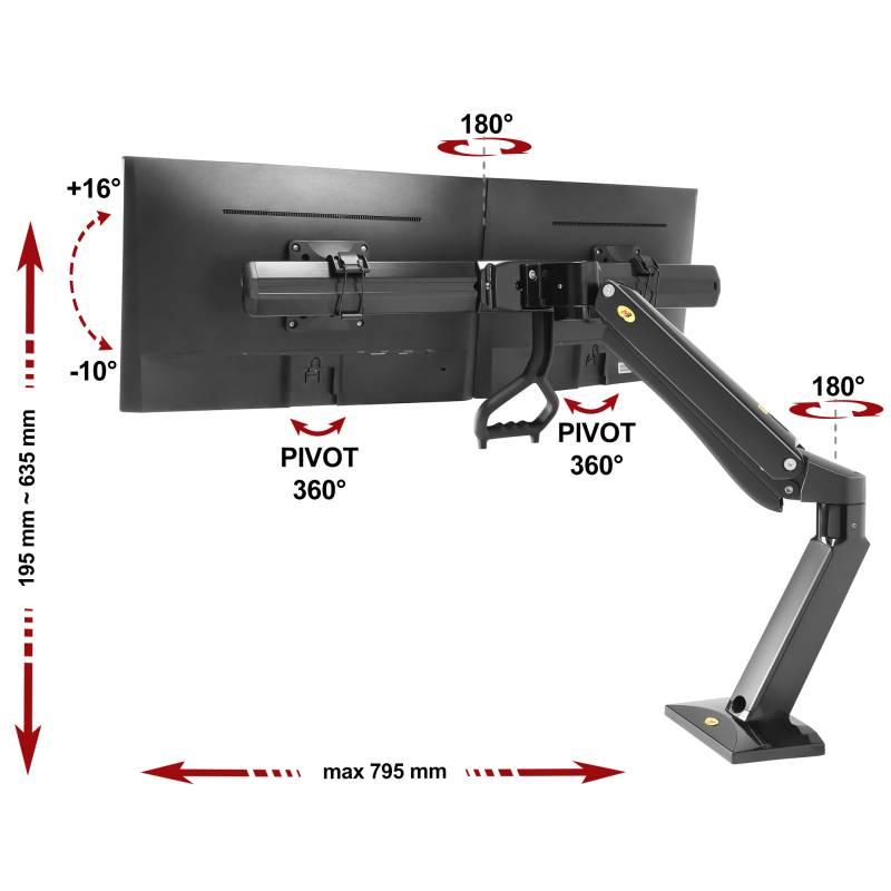 Specyfikacja uchwytu do dwóch monitorów F37