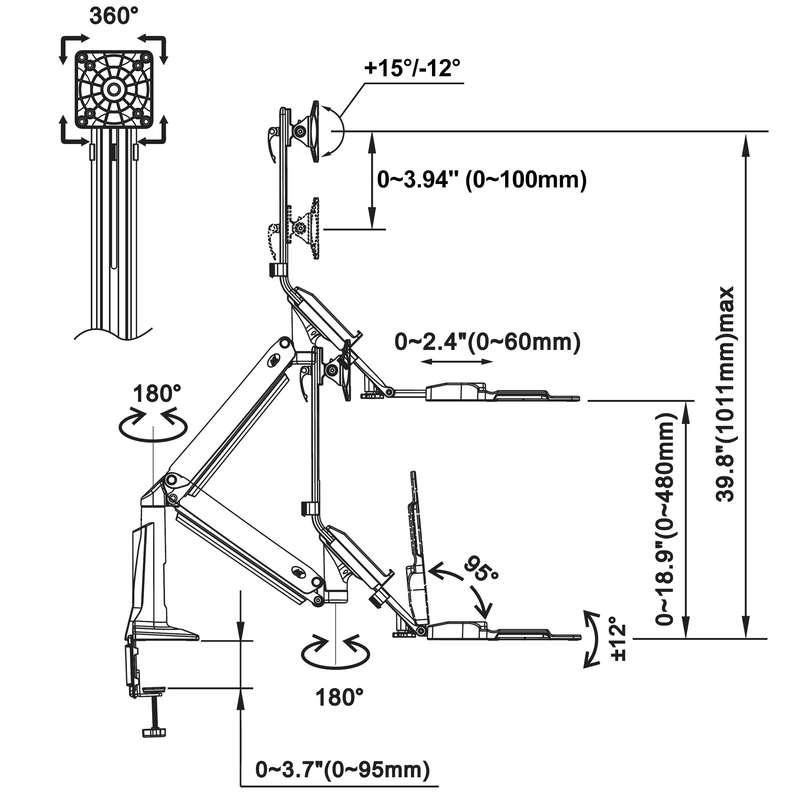 Rysunek techniczny uchwytu FC35