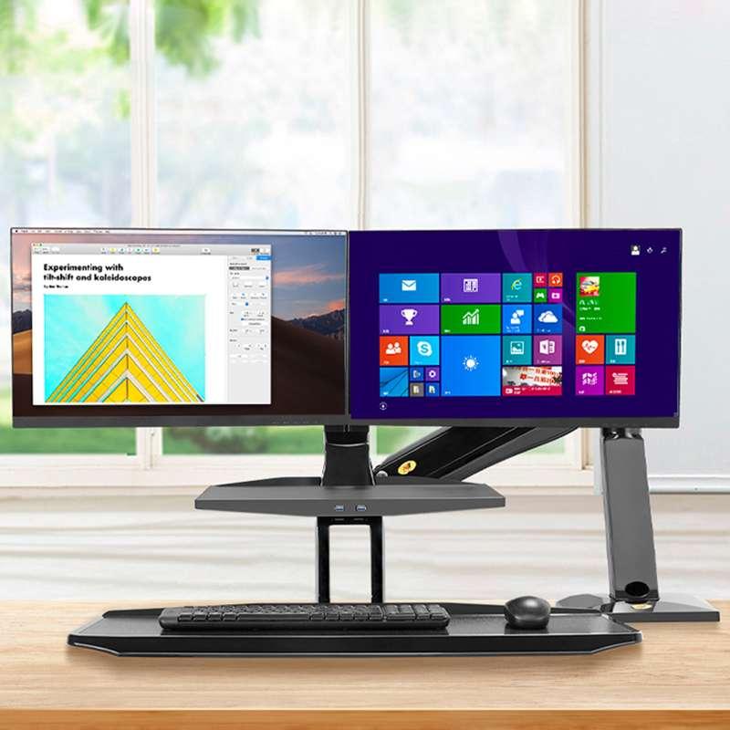 Biurkowa stacja robocza na dwa monitory i klawiaturę FC55-2A