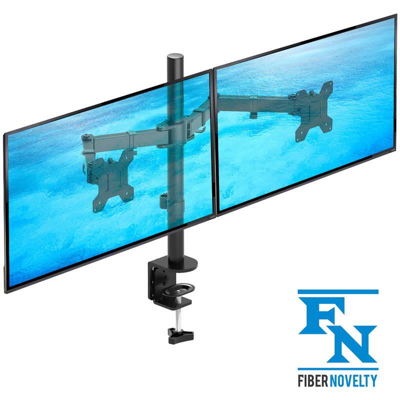 Biurkowy uchwyt na dwa monitory - model: FN40