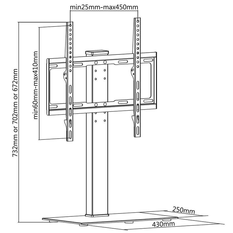 Rysunek techniczny - stojak do TV FN P3