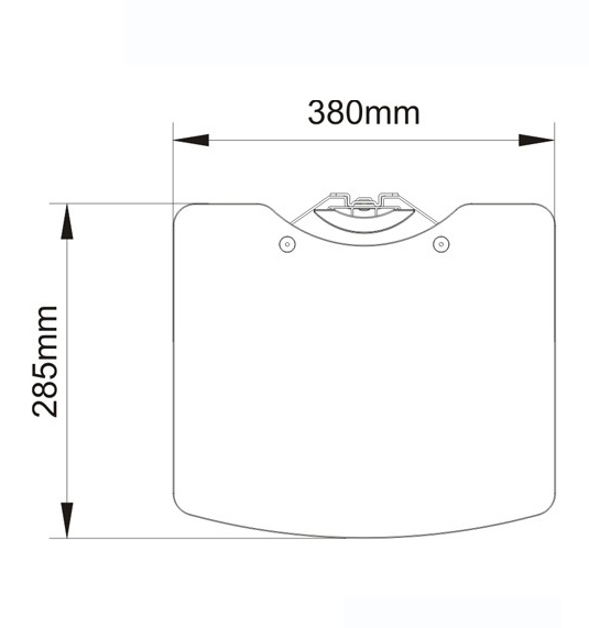 Rysunek techniczny półki szklanej FOXGS-S