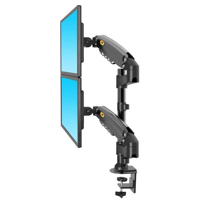 Specyfikacja uchwytu do dwóch monitorów H160