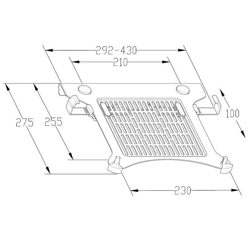 Rysunek techniczny podstawki pod laptop LT105