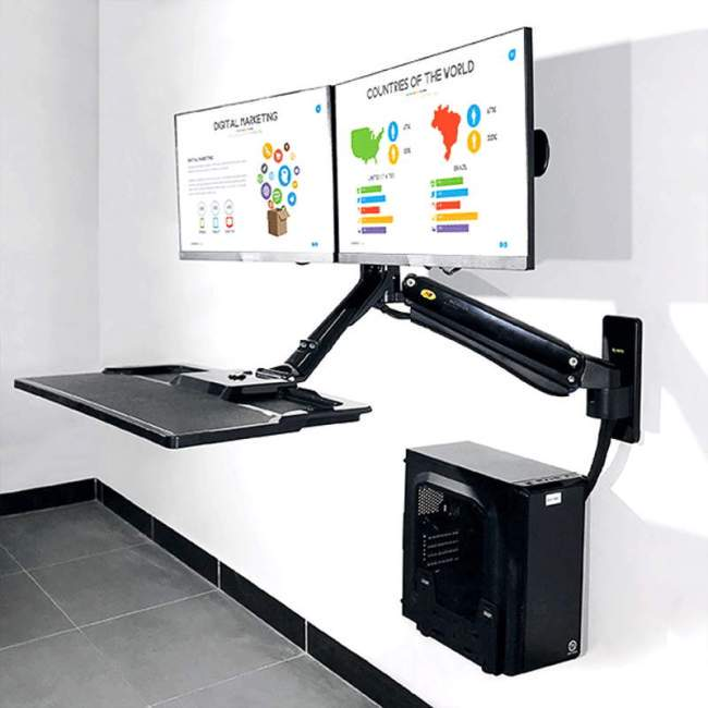 Ścienna stacja robocza na monitor i klawiaturę MC40-2A