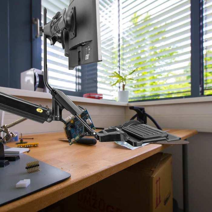 Ścienna stacja robocza na dwa monitory i klawiaturę MC27-2a