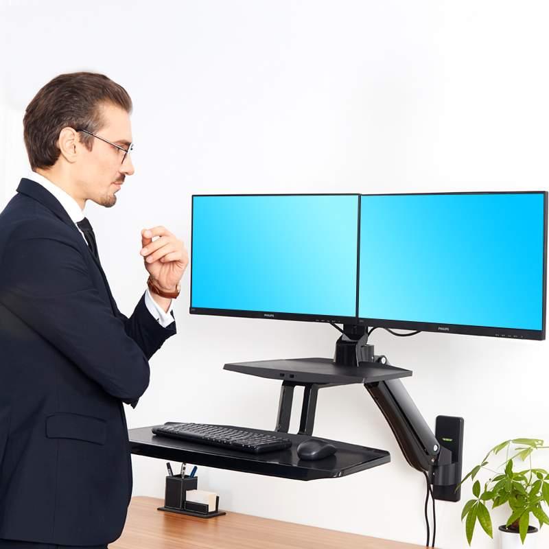 Biurkowa stacja robocza na dwa monitory i klawiaturę MC55-2A