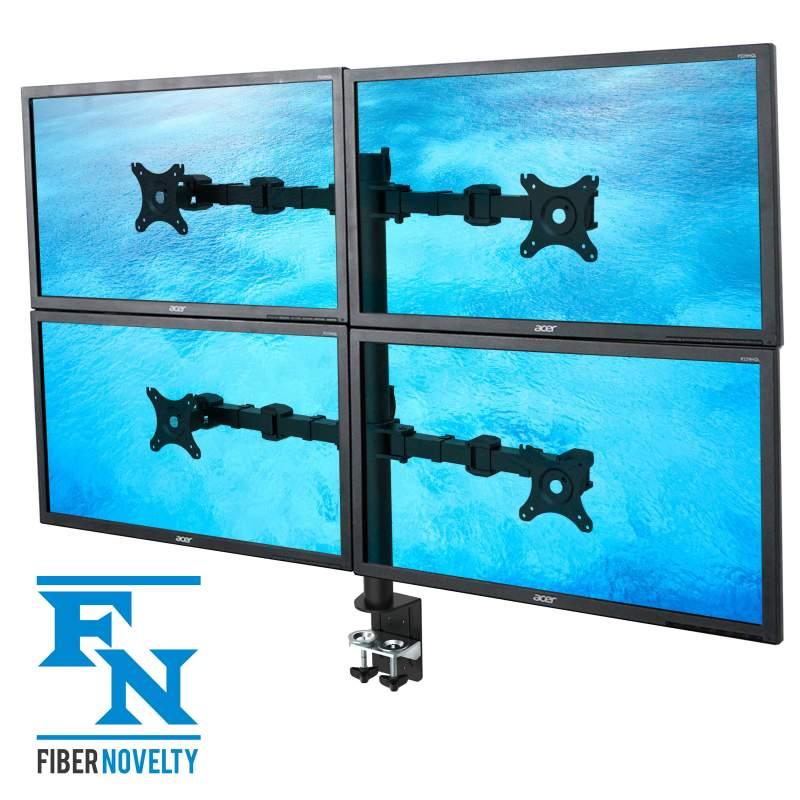 Biurkowy uchwyt na cztery monitory - model: NF44