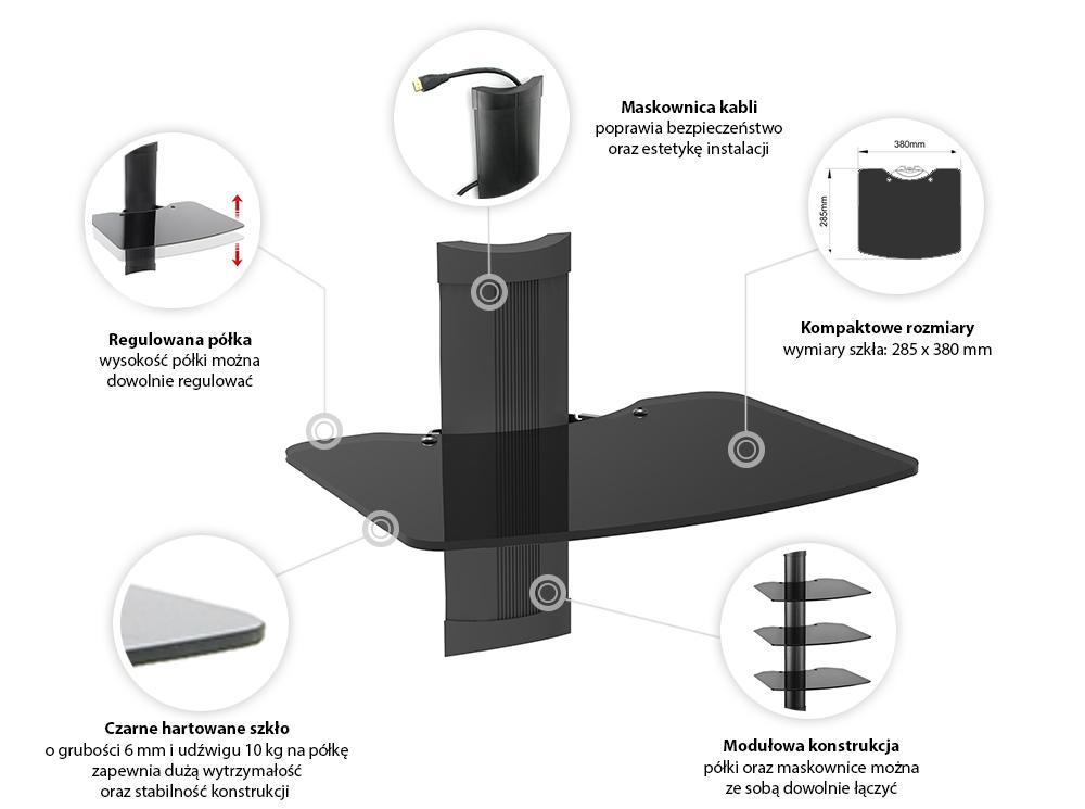 Specyfikacja półki naściennej OVI-S3
