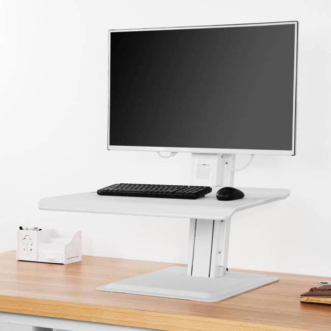 Nabiurkowa stacja robocza ST15, podstawa z regulacją wysokości pod monitor i klawiaturę