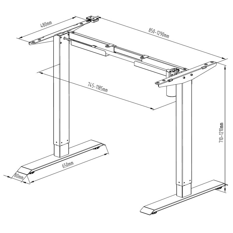 Stelaż biurkowy z elektryczną regulacją wysokości -  Model: SR14